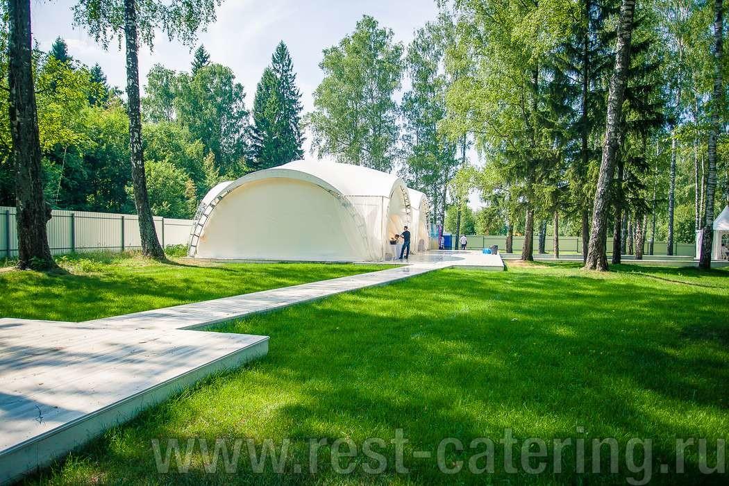 Арочный шатёр 200М2. Московская область, Солнечногорский район