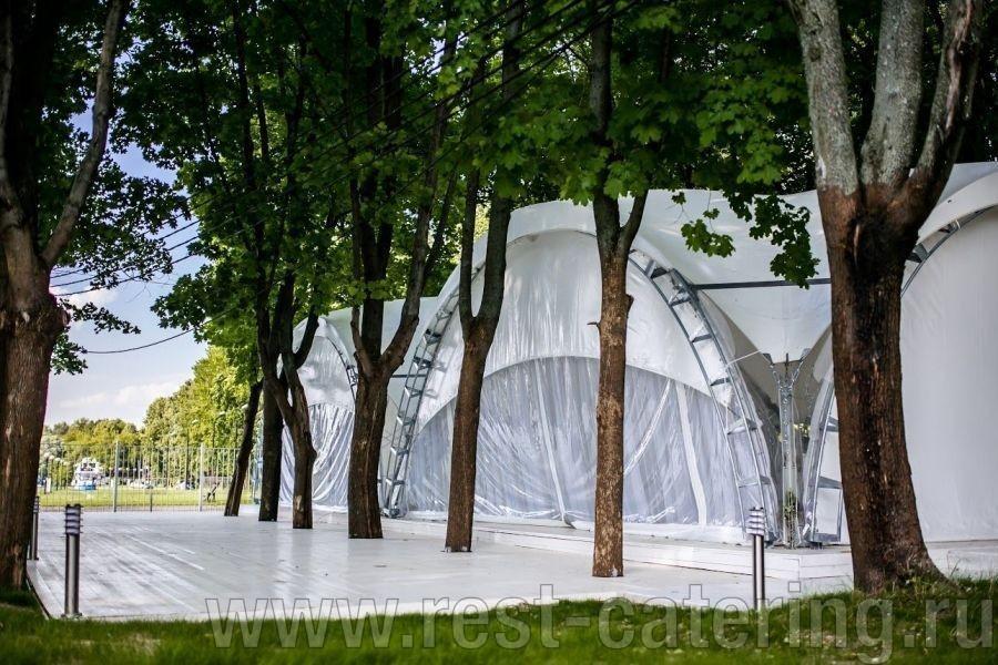 Уникальный шатёр в г. Химки на берегу канала имени Москвы